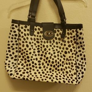 Boden cow hide and leather tote
